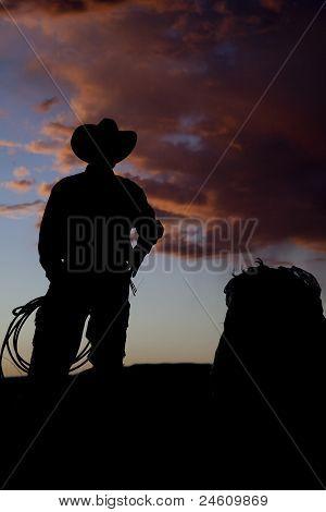 Cowboy Silhouette Straw