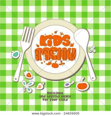 Kids Menu Card Design template.