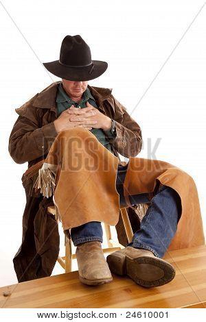 Cowboy In A Chair Head Down