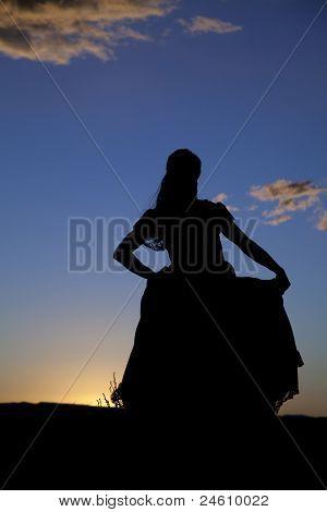 Western Woman Silhouette