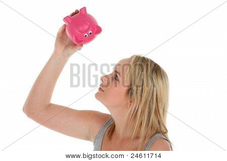 Empty Piggy Bank Concept