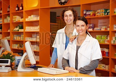 Pharmacist And Pharmacy Technician Together