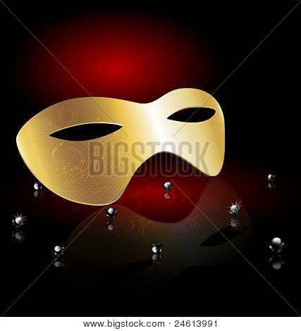 golden carnival half-mask