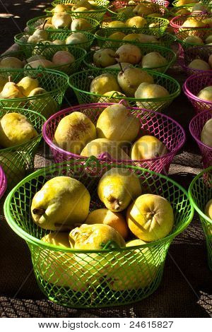 Pears In Wire Baskets
