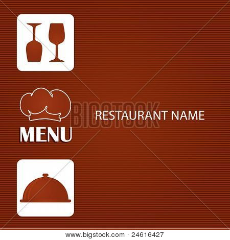 Restaurant and bar menu list.