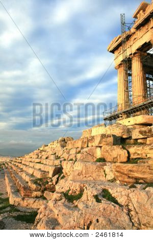 Athens, Greece - The Parthenon Under Repair