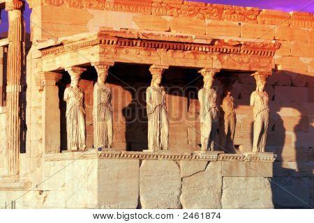 Athens, Greece - Caryatids Of The Erechteum
