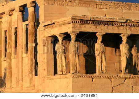 Greece, Athens - Acropolis View Of The Erechtheum