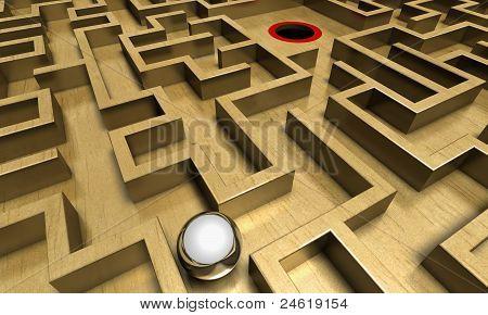 Labyrinth and ball