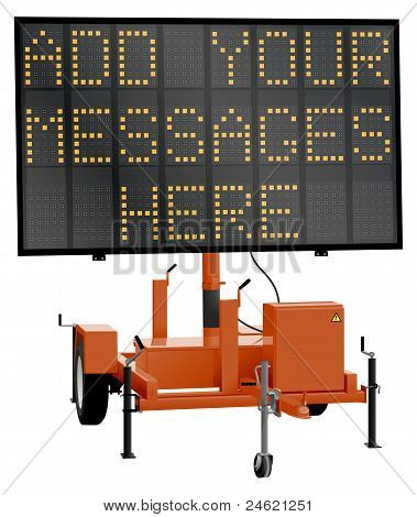 Road Message Sign
