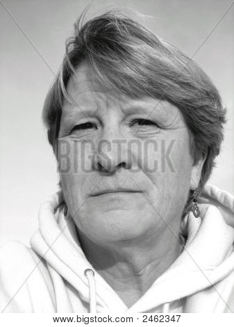 Sad Middle-Aged Woman