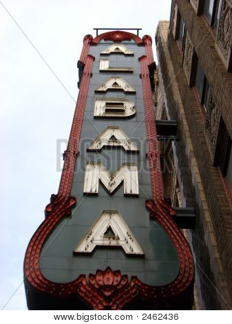Alabama Theater Zeichen