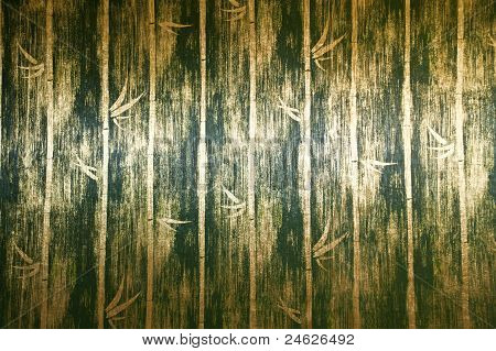 green bamboo wall texture
