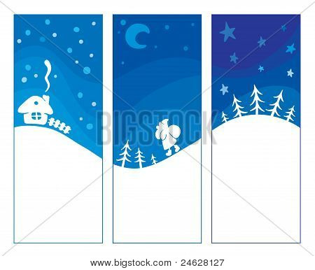 Three blue background - Christmas