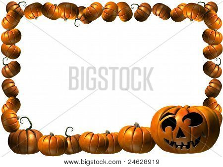 pumpkin Halloween Thanksgiving frame
