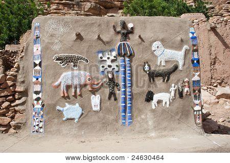 Animals And Dogon Masks.