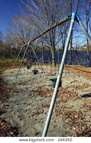 Playground Swings By The River