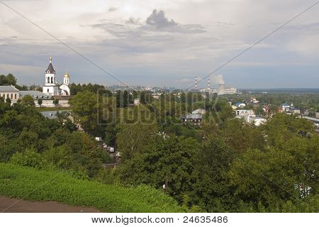Historical and Industrial Vladimir city