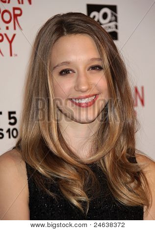 """LOS ANGELES - OCT 3:  Taissa Farmiga arrives to the """"American Horror Story"""" Los Angeles Premiere  on October 3,2011 in Hollywood, CA"""