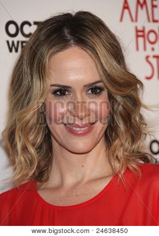 """LOS ANGELES - JAN 16:  Sarah Paulson arrives to the """"American Horror Story"""" Los Angeles Premiere  on October 3,2011 in Hollywood, CA"""