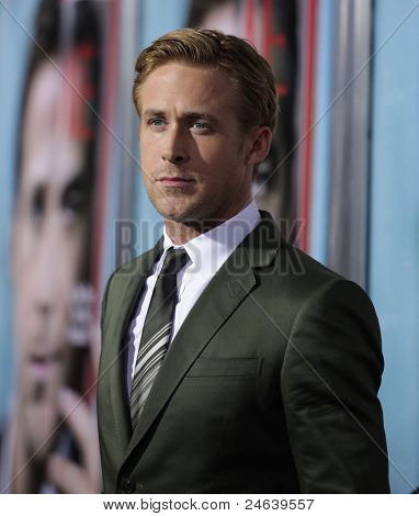 "LOS ANGELES - SEP 27:  Ryan Gosling arrives to the ""The Ides of March"" Los Angeles Premiere  on September 27,2011 in Beverly Hills, CA"