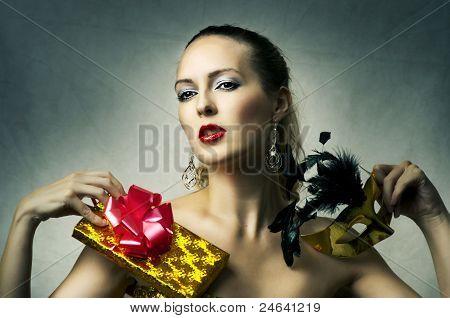 Fashion Portrait Of Glamour Woman