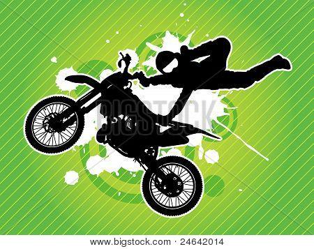 Motocross biker silhouette