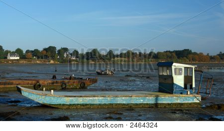 Oyster Boat In Brittany