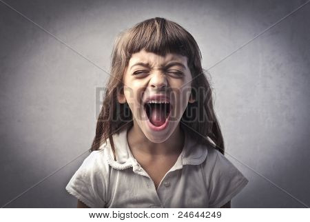 Little girl screaming