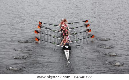 Williams College Women's Eights wins Head of Charles Regatta