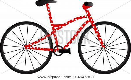 Bike with dots