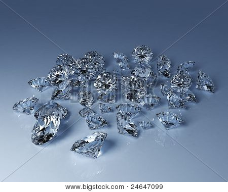 Numerous Diamonds