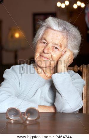 Adorable Elderly Woman