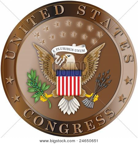 Seal of the United States Congress Bronze