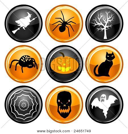 Halloween Button Icons