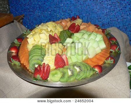 Cut Fruit in a Bowl