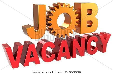 Unemployment Job vacancy announcement text banner