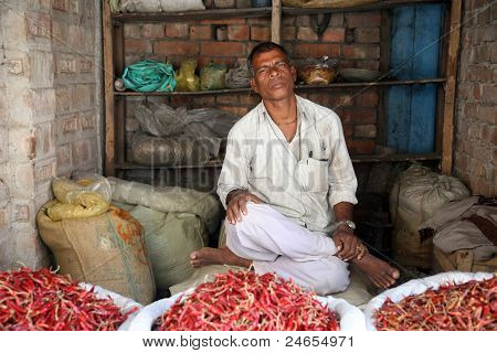 Man Selling Peppers