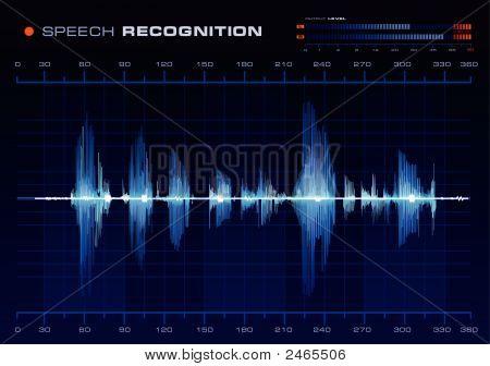 Reconocimiento de voz, forma de onda azul