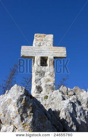 Cross on the mountain (on Golgotha)