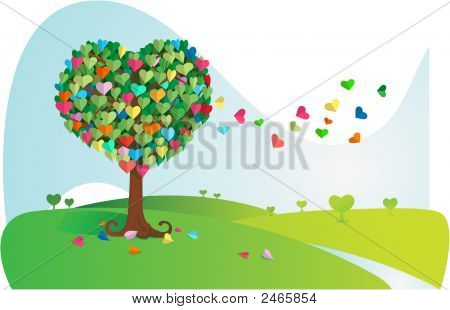 Colorful Love Tree