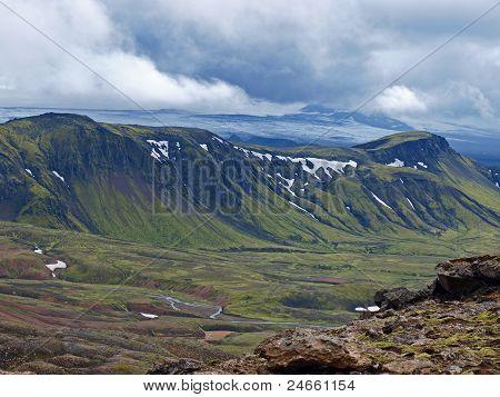 Glacier Myrdalsjokull, Iceland