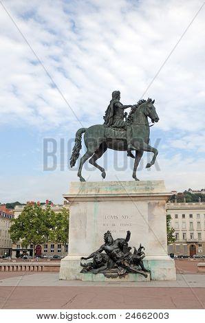 Louis Xiv Statue In Lyon