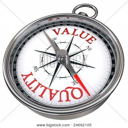 Quality Versus Value Concept Compass