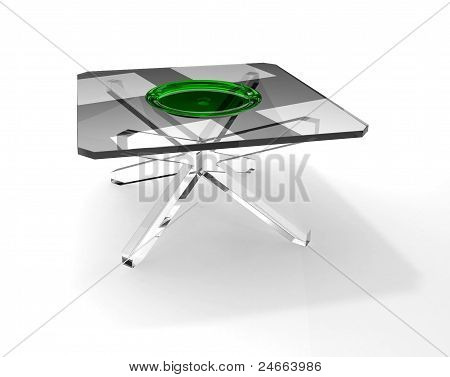 Glass Plate On Glass Table