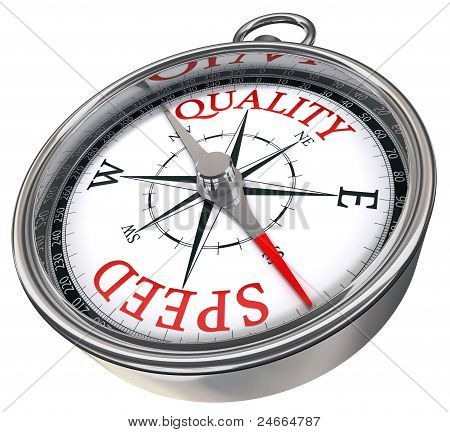Quality Versus Speed Concept Compass