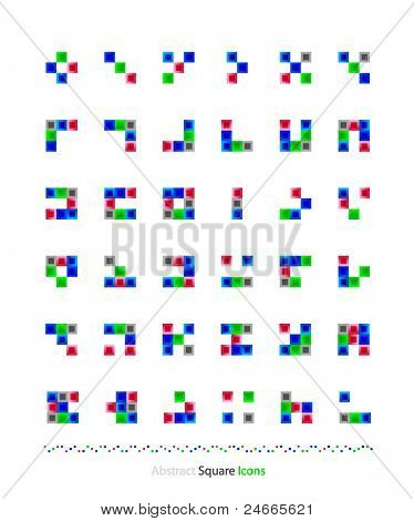 Vector abstract rectangles | squares design elements collection