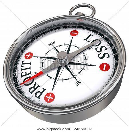 Profit Versus Loss Concept Compass
