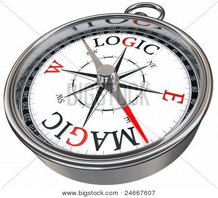 Logic Vs Magic Concept Compass