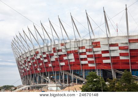 WARSAW - JULY 24 : Premiere presentation of the stadium during The Grand Open Day at the National Stadium on July 24, 2011 in Warsaw, Poland.